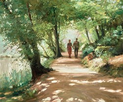 Country Walk by Mark Spain -  sized 24x20 inches. Available from Whitewall Galleries